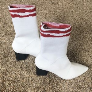 Brand new Zara ankle white sock boots.